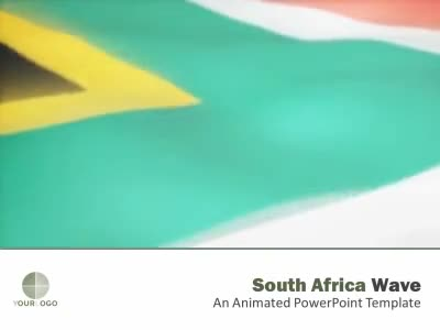 ID# 6497 - South Africa Flag - PowerPoint Template