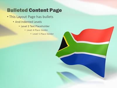 South africa flag a powerpoint template from presentermedia toneelgroepblik Gallery