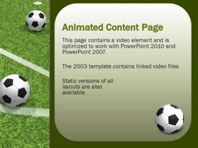 Soccer Balls Dropping On Field A Powerpoint Template From