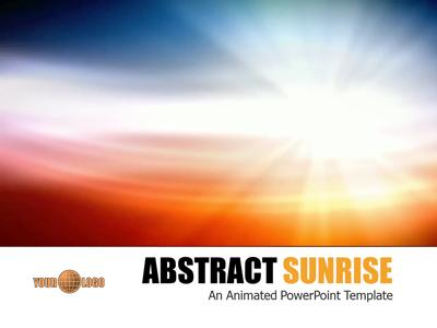 abstract sunrise a powerpoint template from presentermedia com