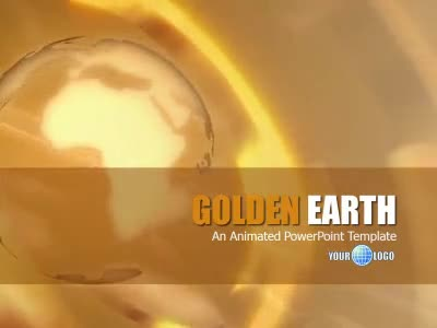 ID# 6624 - Golden Earth - PowerPoint Template