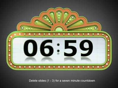 Countdown Timer - A PowerPoint Template from PresenterMedia.com