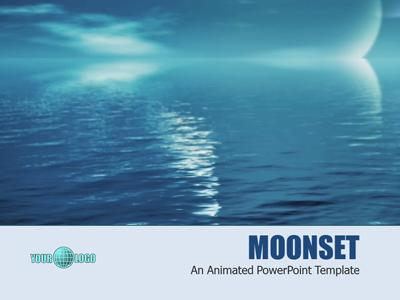 Moonset a powerpoint template from presentermedia toneelgroepblik Image collections