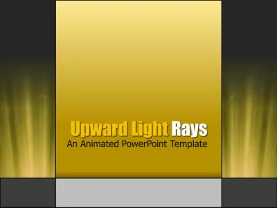 ID# 6908 - Upward Light Rays - PowerPoint Template