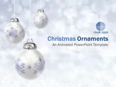 ID# 6912 - Christmas Ornaments - PowerPoint Template