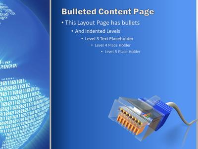 Binary Earth - A PowerPoint Template from PresenterMedia.com