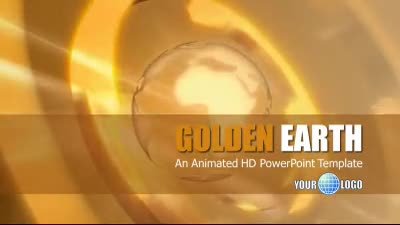 ID# 7311 - Golden Earth - PowerPoint Template
