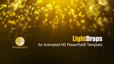 ID# 7341 - Light Drops - PowerPoint Template