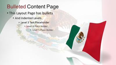 Mexico flag wave a powerpoint template from presentermedia toneelgroepblik Choice Image
