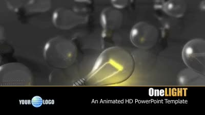 ID# 7372 - One Light - PowerPoint Template