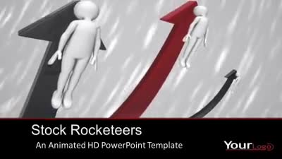 ID# 7436 - Stock Rocketeers - PowerPoint Template