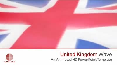 ID# 7453 - United Kingdom Flag - PowerPoint Template