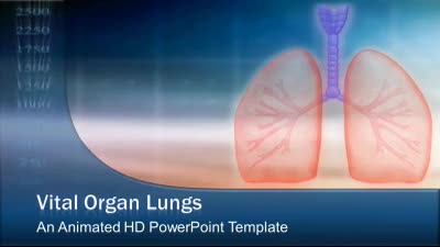 ID# 7459 - Vital Organ Lungs - PowerPoint Template