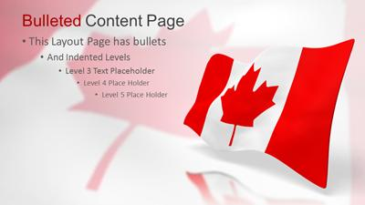 Happy canada day powerpoint template | independence day powerpoints.