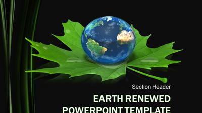 earth renewed a powerpoint template from presentermedia com