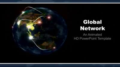 ID# 7566 - Global Network - PowerPoint Template