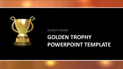 Golden trophy a powerpoint template from presentermedia toneelgroepblik Choice Image