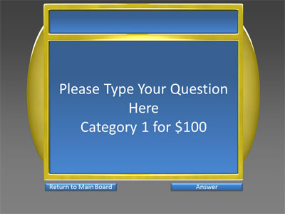 5 Category Question Game Show - A PowerPoint Template from ...