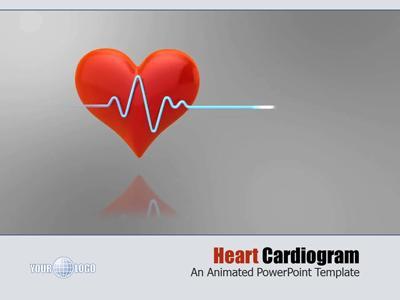 Heart Cardiogram A Powerpoint Template From Presentermedia