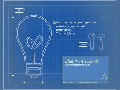 Blueprint tool kit a powerpoint template from presentermedia malvernweather Choice Image