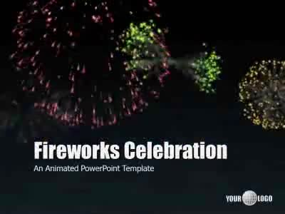 golden fireworks hd video backgrounds video background for powerpoint presentermediacom