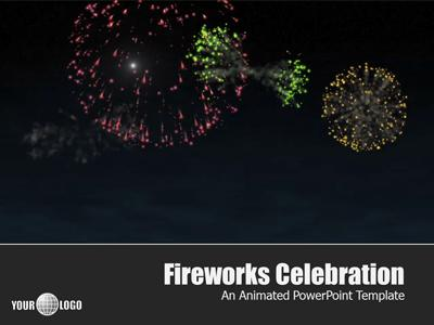 Fireworks celebration a powerpoint template from presentermedia toneelgroepblik Images