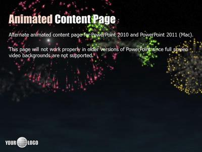 Fireworks celebration a powerpoint template from presentermedia toneelgroepblik Image collections