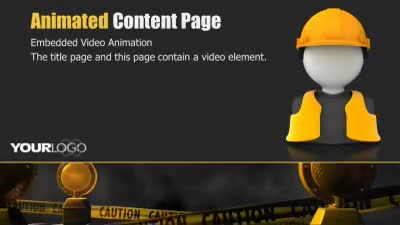Caution tape a powerpoint template from presentermedia toneelgroepblik Gallery