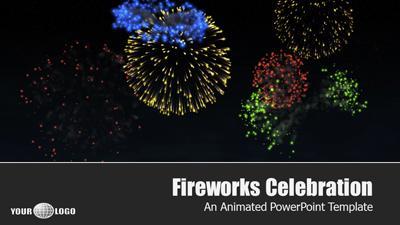 Fireworks celebration a powerpoint template from presentermedia toneelgroepblik Choice Image