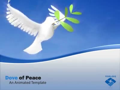 ID# 8950 - Dove of Peace - PowerPoint Template