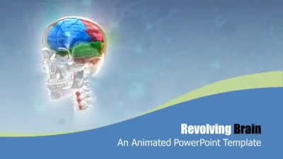 ID# 9186 - Revolving Brain - PowerPoint Template