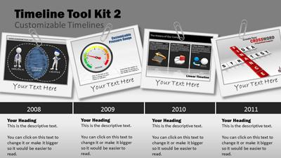 ID# 9225 - Timeline Tool Kit 2 - PowerPoint Template