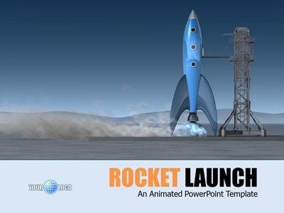 Rocket Launch - A PowerPoint Template from PresenterMedia com