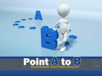 ID# 9328 - Point A To B - PowerPoint Template