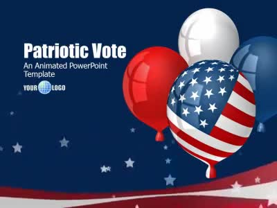 patriotic vote a powerpoint template from presentermedia com