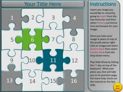 ID# 10686 - Puzzle Piece Picture Reveal Game - PowerPoint Template