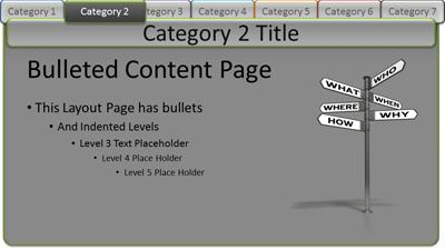 Interactive tabs category pages a powerpoint template from interactive tabs category pages a powerpoint template from presentermedia toneelgroepblik Choice Image
