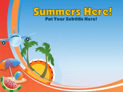 ID# 12138 - Summer's Here - PowerPoint Template
