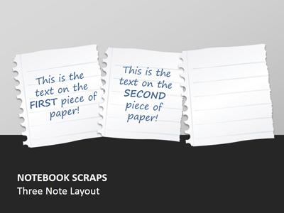 Notebook Paper Scraps A Powerpoint Template From Presentermedia