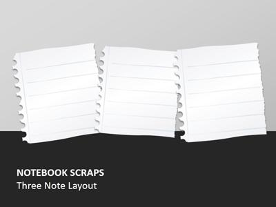 Notebook paper scraps a powerpoint template from presentermedia powerpoint template loading preview close toneelgroepblik Choice Image