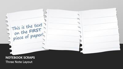 Notebook Paper Scraps A Powerpoint Template From