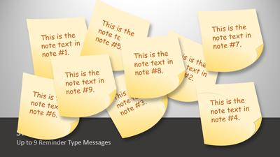 ID# 12539 - Sticky Note Tool Kit - PowerPoint Template