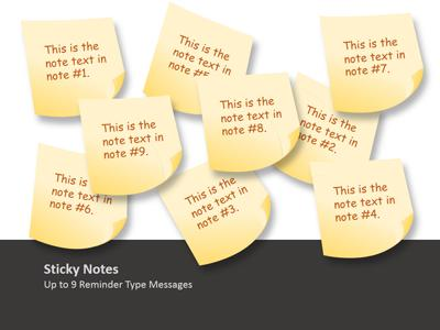 sticky note tool kit - a powerpoint template from presentermedia, Powerpoint Notes Template, Powerpoint templates