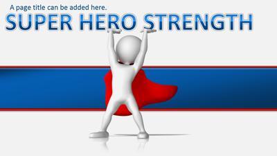 superhero action a powerpoint template from presentermedia com