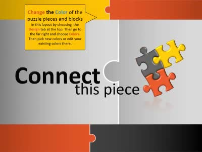 ID# 13025 - Connect This Piece - PowerPoint Template