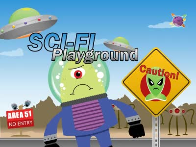 ID# 13408 - Sci Fi Playground - PowerPoint Template