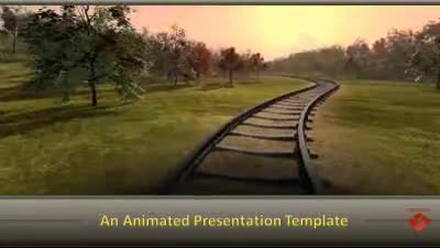 train frieght transport a powerpoint template from presentermedia com