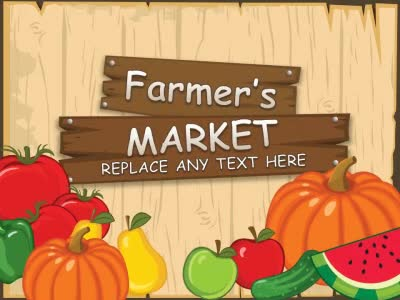 ID# 14890 - Farmer's Market - PowerPoint Template