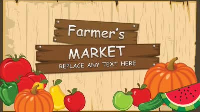 ID# 14899 - Farmer's Market - PowerPoint Template