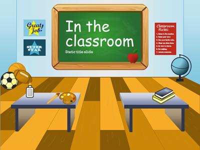 In The Classroom A Powerpoint Template From Presentermedia Com